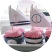 image of pink and blue nautical baby shower