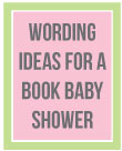invitation wording ideas for a book baby shower book baby showers