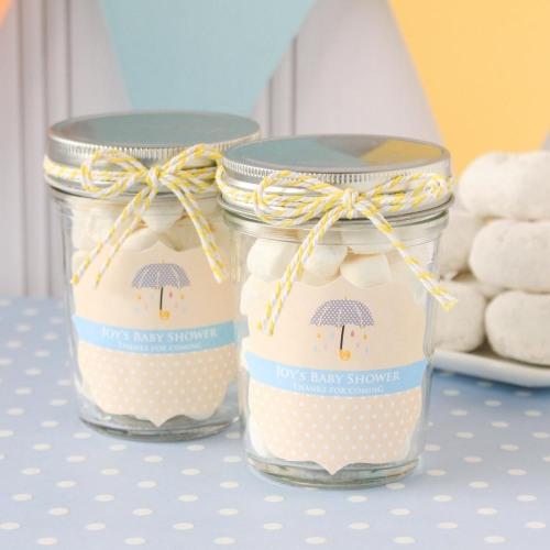 image of beau-coup.com baby shower mason jar favors