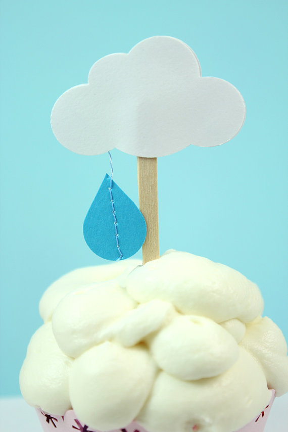 baby shower cupcake topper picture