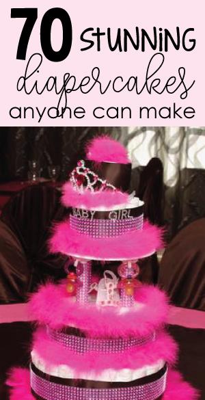 DIY Baby Shower Diaper Cake Ideas