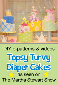 baby shower diaper cake tutorial banner