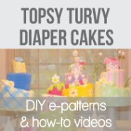 topsy turvy baby shower diaper cakes banner