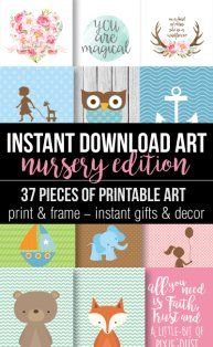 Printable Baby Nursery Art Banner