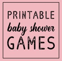 printable baby shower games banner