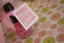 image of favor tags and nail polish