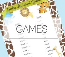 baby shower games banner