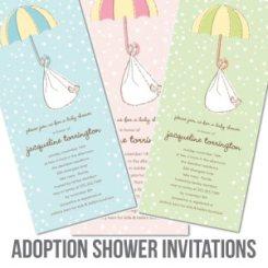 adoption baby shower invitation ideas banner