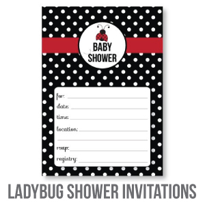 ladybug baby shower invitations banner