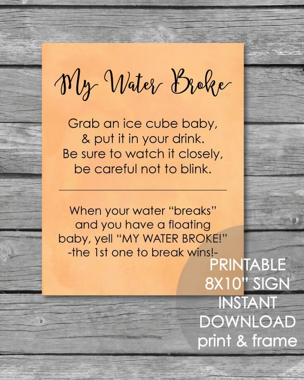 printable watercolor baby shower games