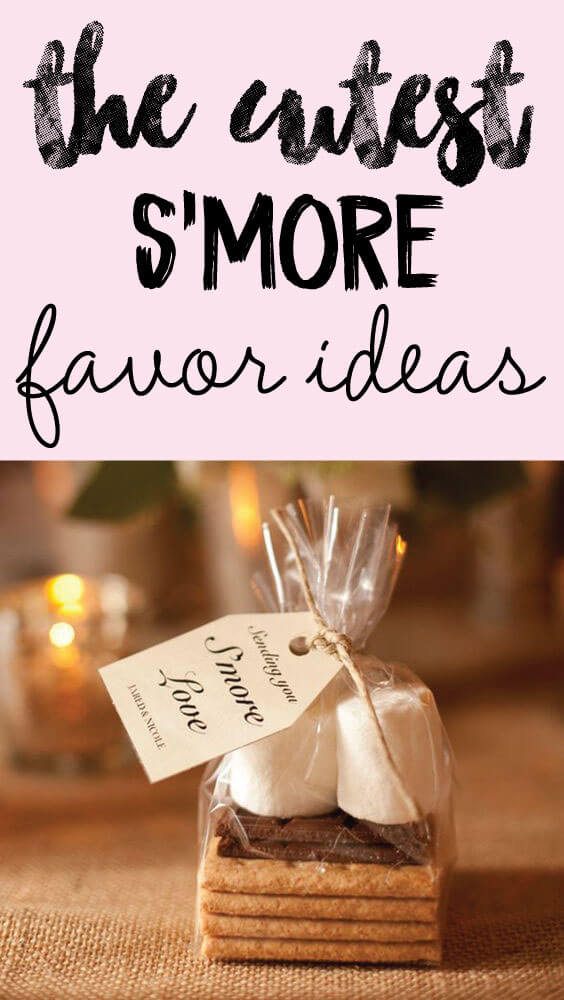 picture of s'mores baby shower favors