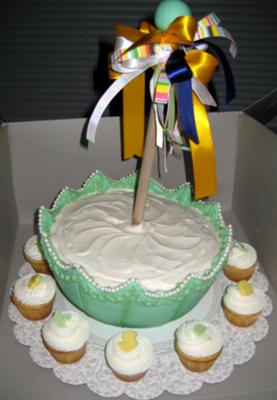 picture of umbrella baby shower cake ideas