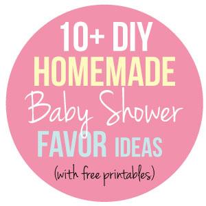 baby shower favors banner