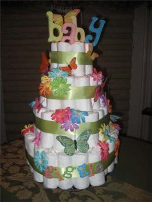 butterfly diaper cake