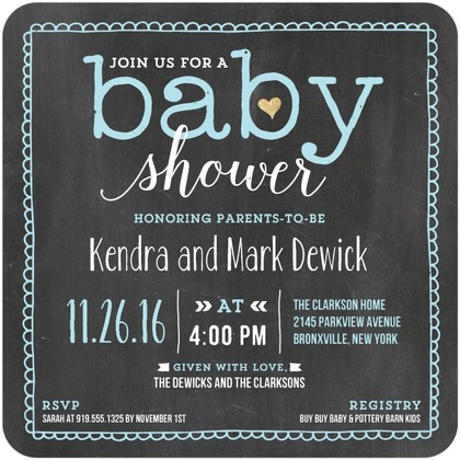 couples baby shower invitations picture