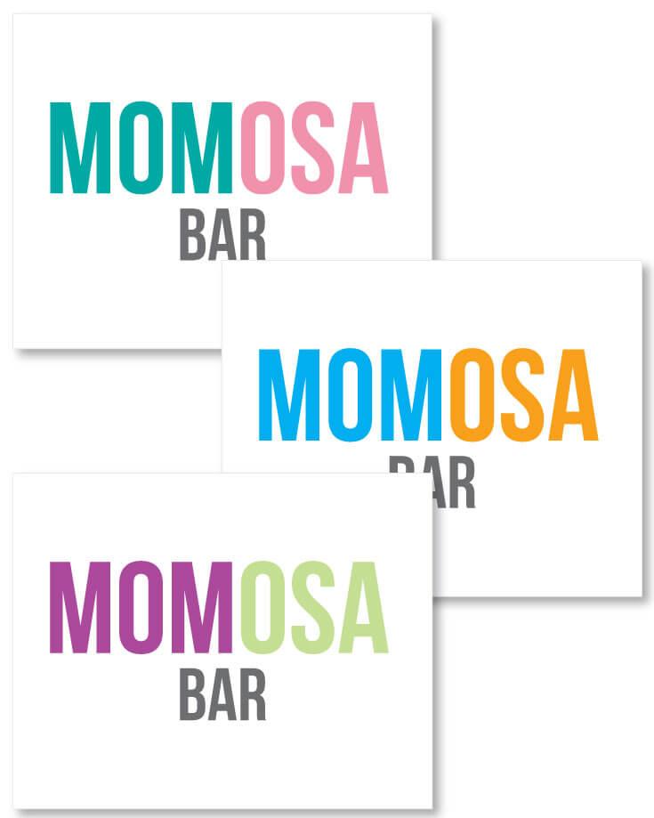 Mom-osa Bar Sign - Printable Download