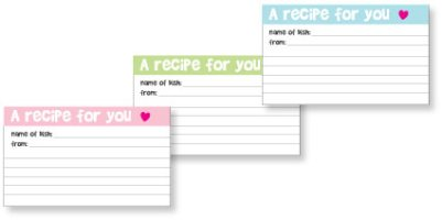 picture of printable recipe cards
