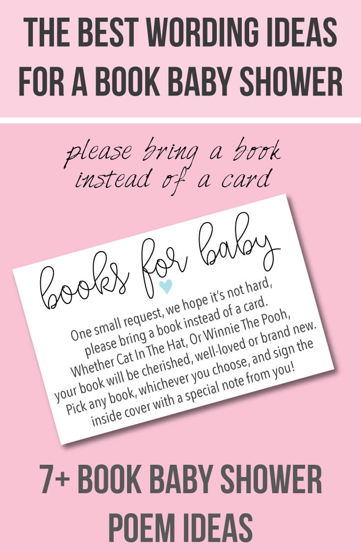 please bring a book instead of a card baby shower wording ideas