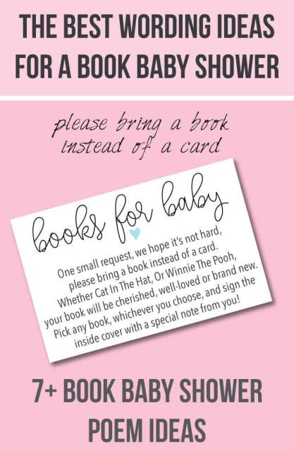 baby shower book poem insert