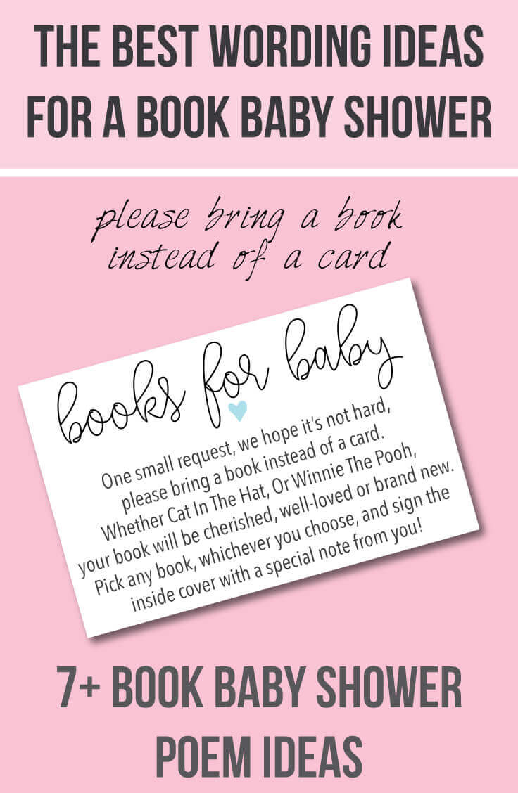 book baby shower invitations wording ideas