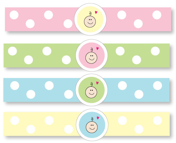 picture of printable baby shower napkin rings