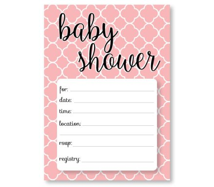 FREE Printable Pink Baby Shower Invitation Card  Free Baby Shower Invitation Templates Printable