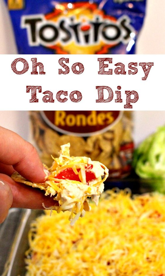 image of easy taco dip recipe