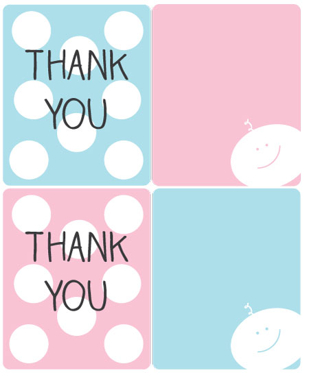 free printable hostess thank you labels