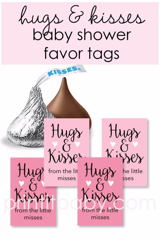 free printable hershey's kisses favor tags