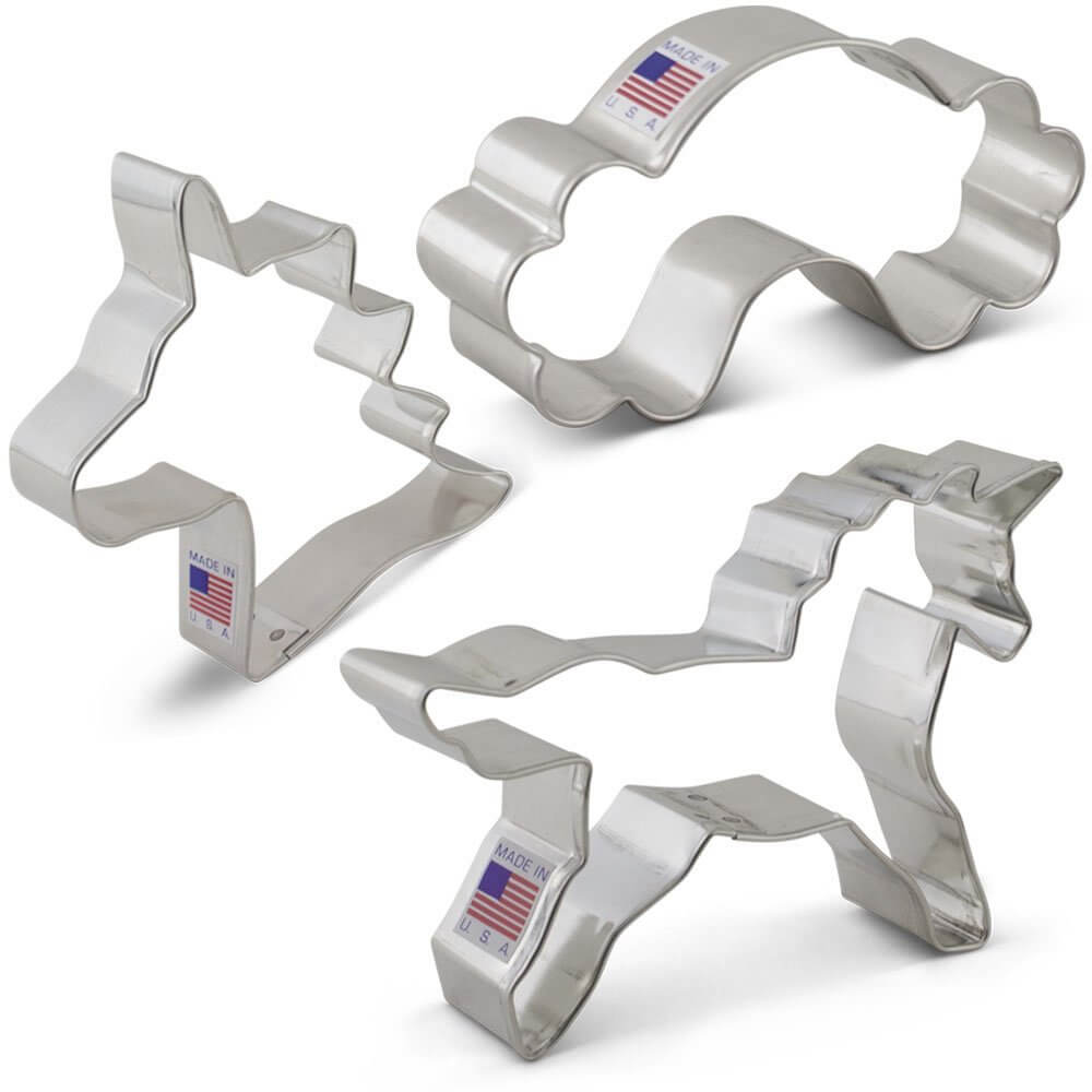 image of unicorn cookie cutters