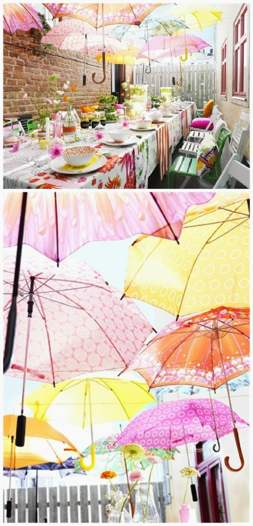 cute picture of umbrella baby shower decorations