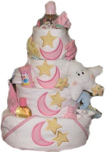image of how to make a diaper cake