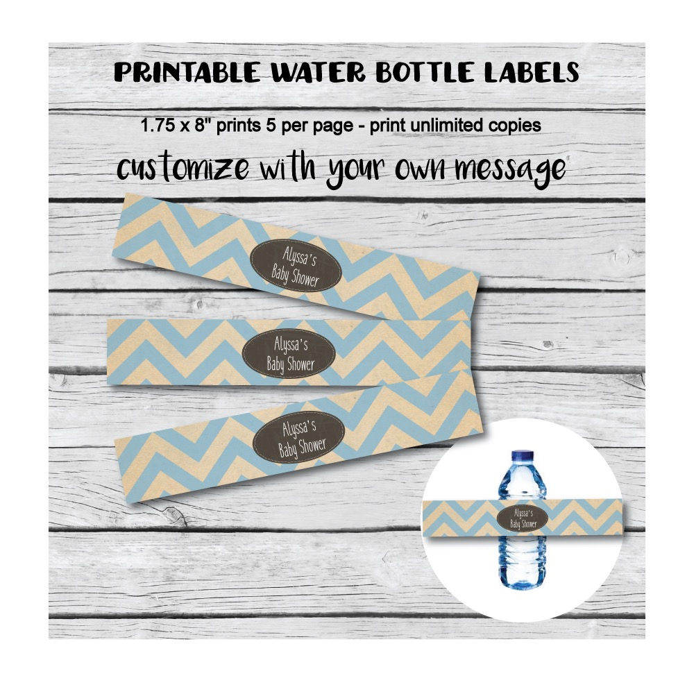 picture of baby shower water bottle labels