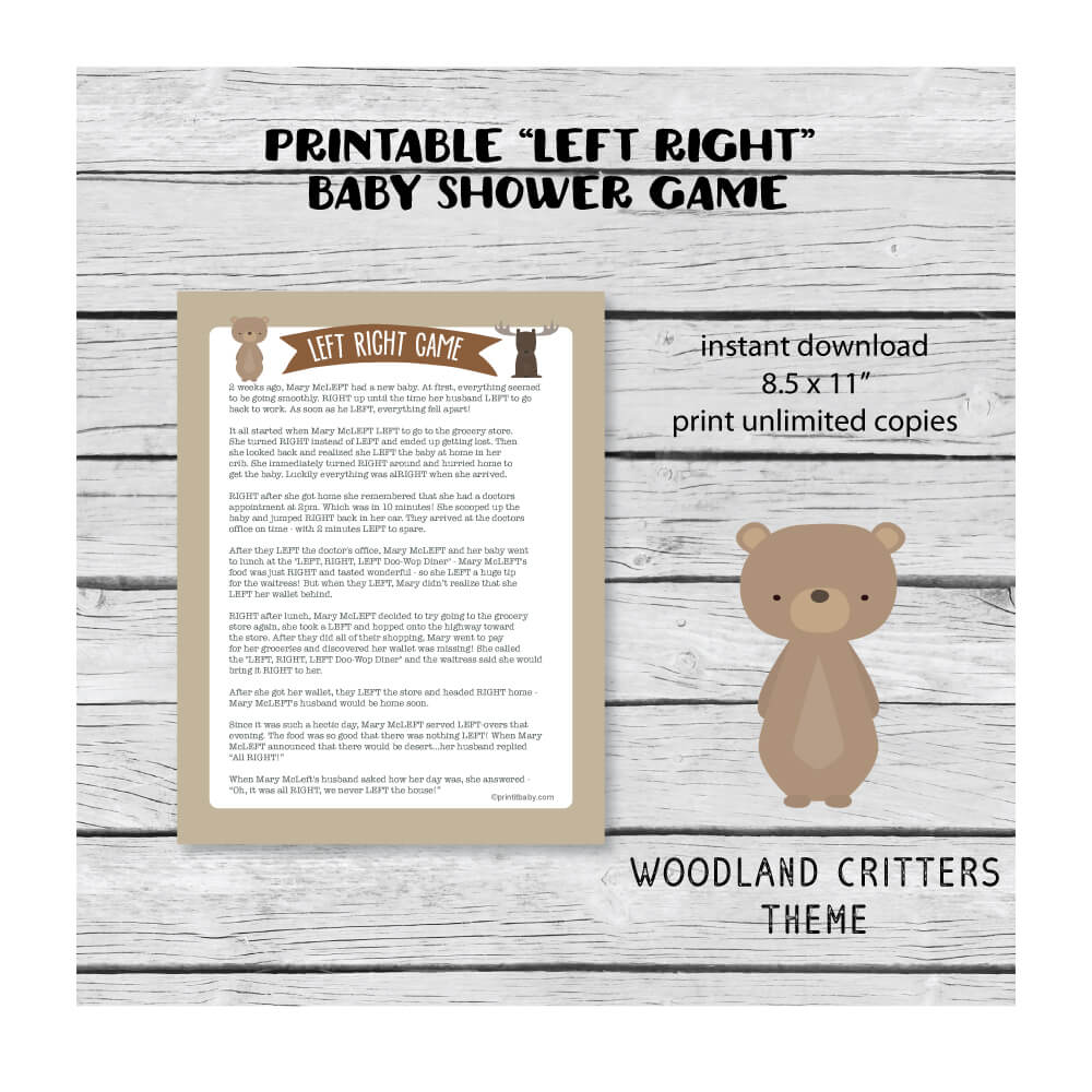 woodland baby shower theme banner