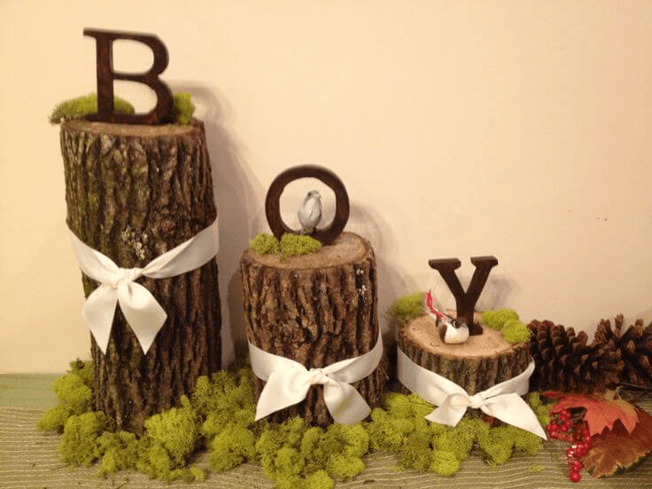 Rustic woodland baby shower decoration ideas