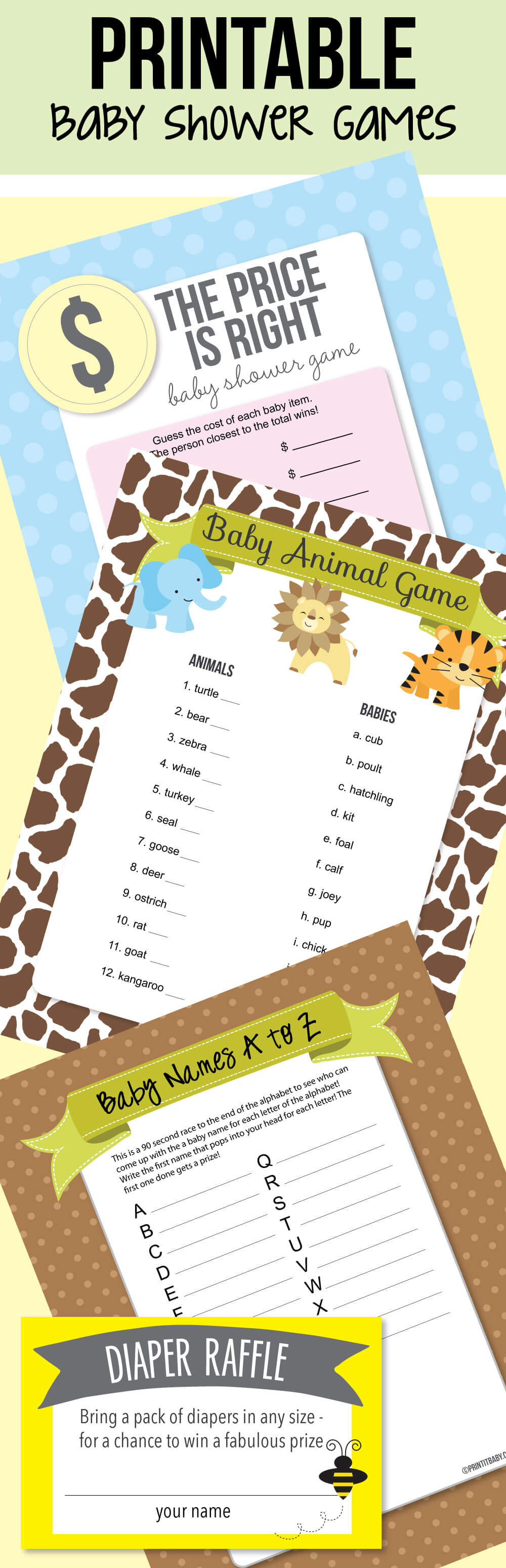 Image of printable baby shower games