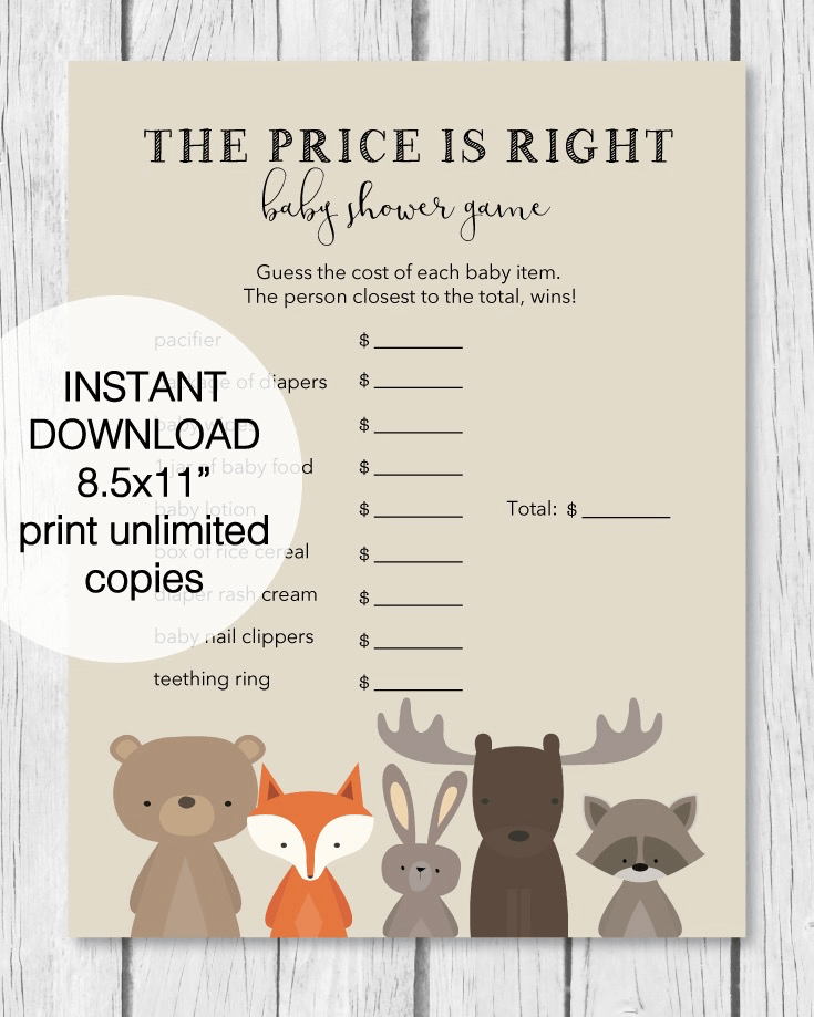 photo regarding Free Printable Woodland Animal Templates titled 25+ Woodland Little one Shower Topic Tips (Decorations, Online games