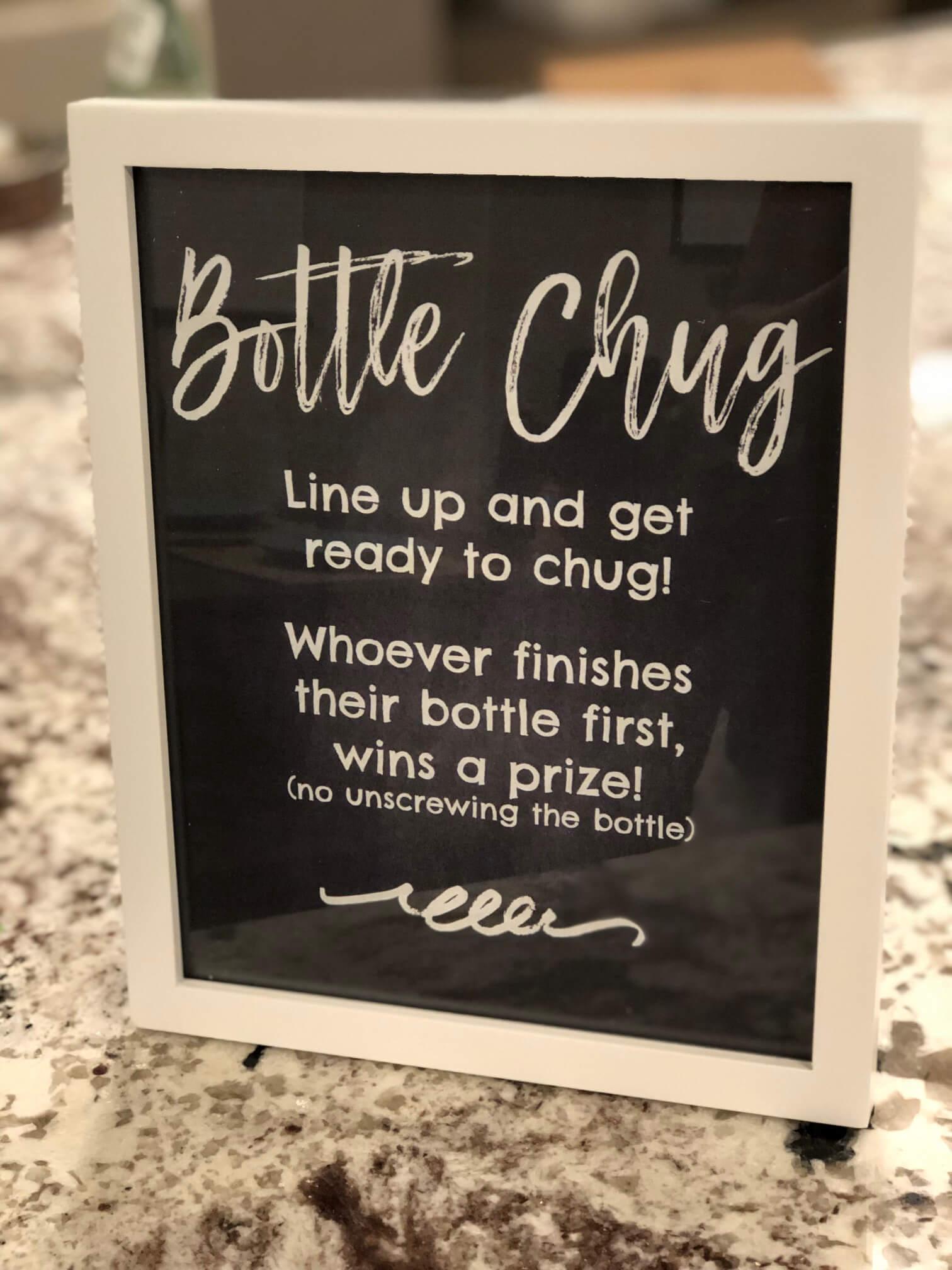 Baby Bottle Chug Game