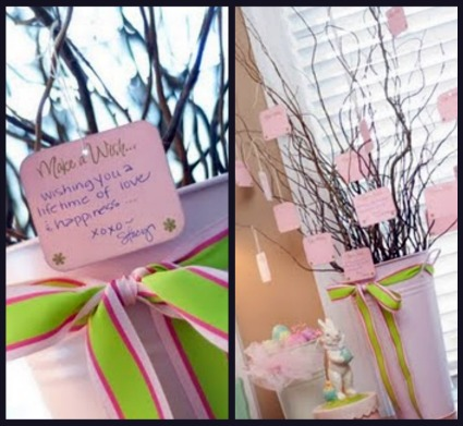 Baby Shower Wish Tree Poem http://www.cutest-baby-shower-ideas.com/preppy-and-pink-baby-shower.html