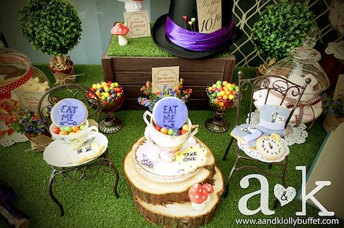 picture of adorable alice in wonderland baby shower ideas