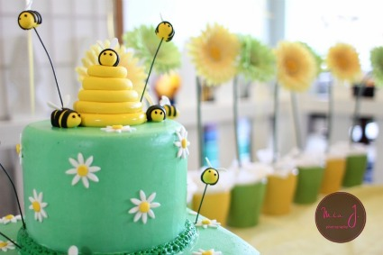 bee baby shower table sweet t bumble cake events