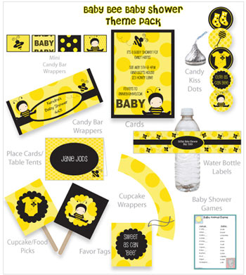 Bumble Bee Baby Shower Printables Decor And Ideas
