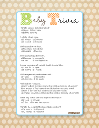 image of baby shower trivia games
