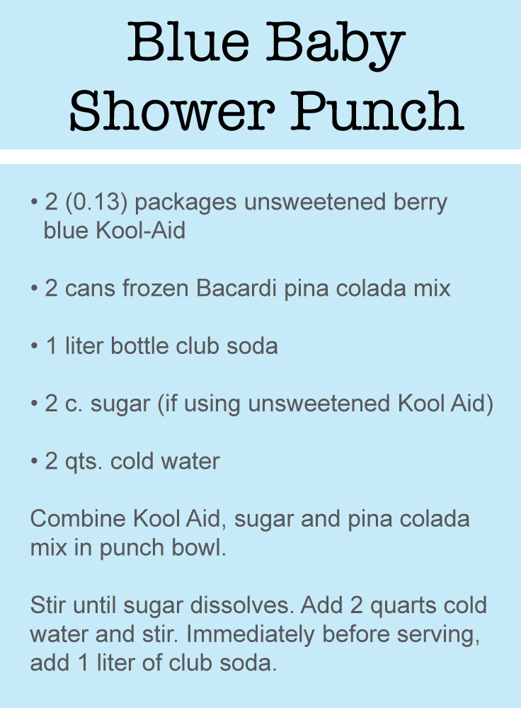 blue punch recipes for a baby shower