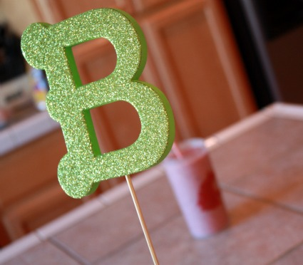 image of a baby shower centerpiece idea for a boy