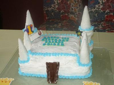 castle baby shower princess cake