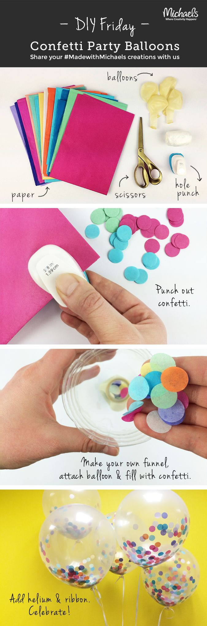 banner of how to make confetti balloons