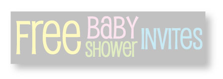 free polka dot baby shower invitations banner