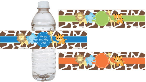 printable baby shower water bottle labels