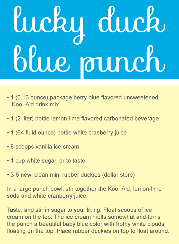 Captivating Blue Punch Recipes For A Baby Shower